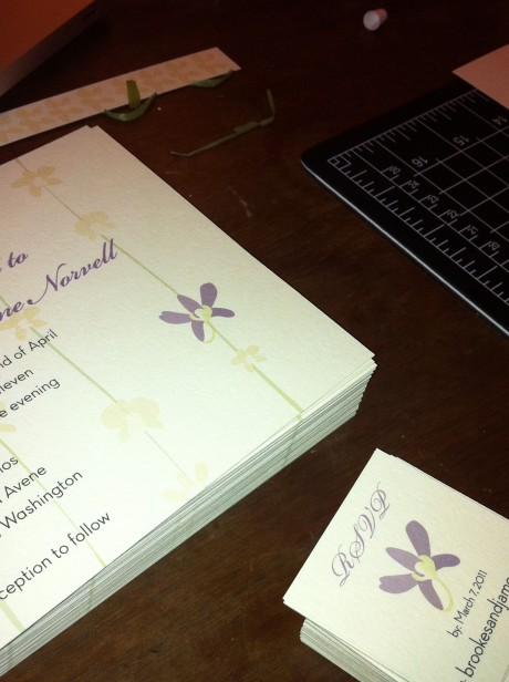 Purple Orchid Invitations