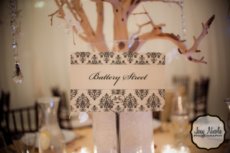 Black Damask Wedding