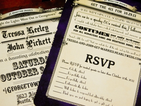 Perforated RSVP postcard